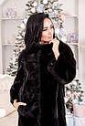 Шуба Норковая Черная 100 см Канадская Шанель 0524ЕИШ, фото 3