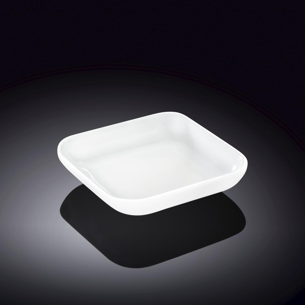 Ємність для закусок Wilmax квадратна 7х7 см фарфор, Порцеляновий квадратна біла кухонні ємність для закусок
