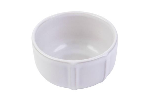Ємність для запікання Pyrex Signature біла d8 см фарфор, Порцеляновий біла форма для запікання суфле