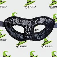 Венецианская маска ажурная черная , фото 1