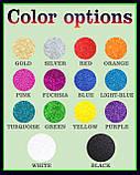 Топпер Водолей, Водолей на торт, Топперы знаки зодиака, Топер Водолей блестках разных цветов, фото 3