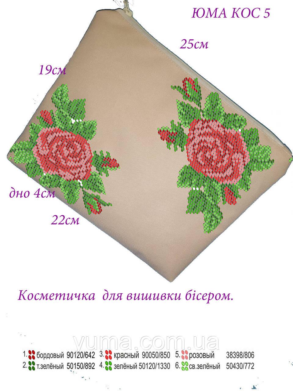 Косметичка под вышивку бисером