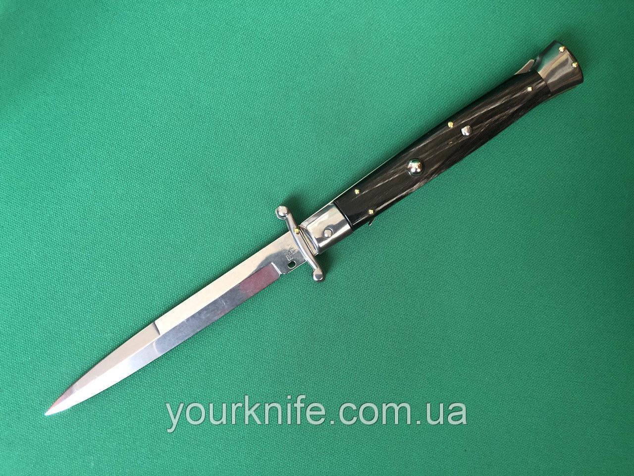 Нож Итальянский автоматический стилет Frank Beltrame Swinguard 28см рог буйвола bayonet