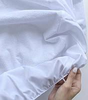 Непромокаемый наматрасник на резинке - Белый