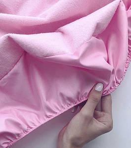 Непромокаемый наматрасник на резинке - Розовый