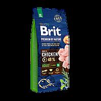 Brit Premium Dog Adult XL  15 кг -Полноценный корм с курицей для взрослых собак гигантских пород