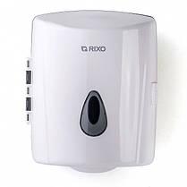 Диспенсер рулонных бумажных полотенец с центральной вытяжкой Rixo Maggio P020W белый пластиковый подвесной, фото 3