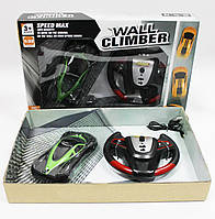 Антигравітаційна машинка Wall Climber 866-10 (їздить по підлозі, стелі) з пультом ДУ, чорна