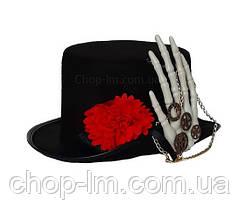 Шляпа цилиндр в стиле стимпанк, женский головной убор