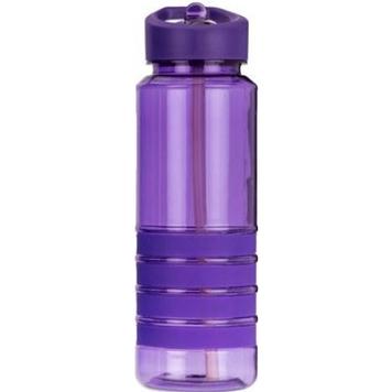Пляшка для води з трубочкою Smile SBP-1 750 мл Фіолетова