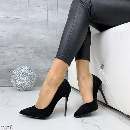 Классические черные туфли лодочки, фото 2