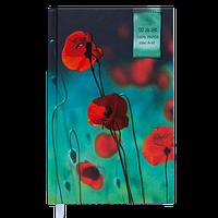 Ежедневник недатированный в линию Buromax Grace А6, твёрдая обложка, бирюзовый, фото 1