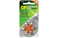 Батарейка для слуховых аппаратов GP ZA13 \ PR48 C6, DA13X, 1.45V блистер 6шт Модель: ZA13-D6