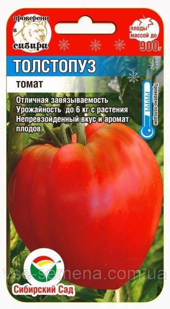 Томат Толстопуз 20 шт (Сибирский Сад)