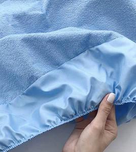 Непромокаемый наматрасник на резинке - Голубой