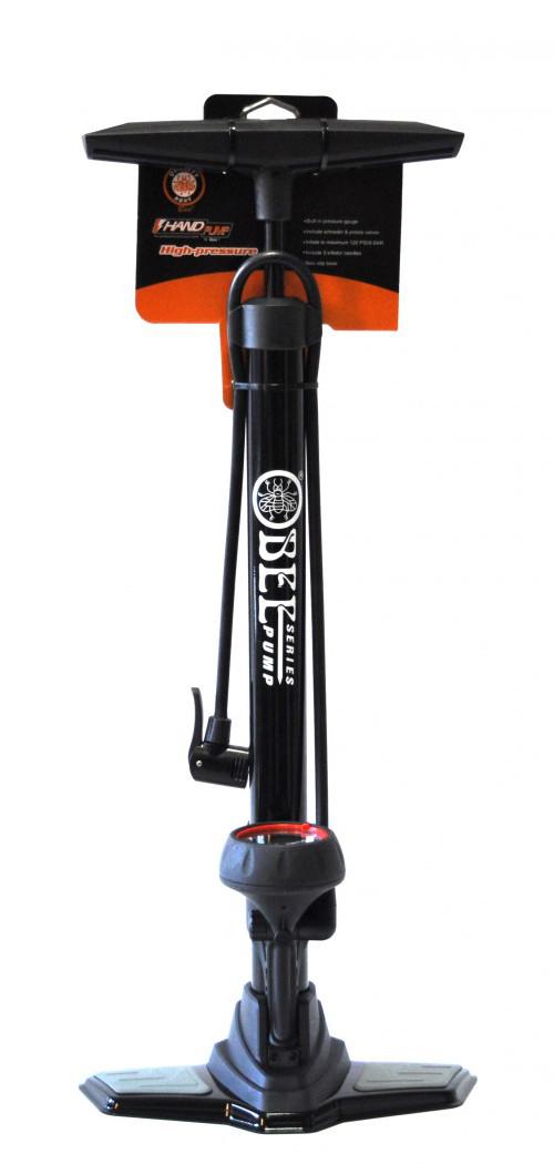 Велосипедний Насос підлоговий BEE P38B-02 сталь AV/FV з манометром