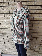 Рубашка женская высокого качества коттоновая дизайнерская TAHA ETEL, Турция, фото 3