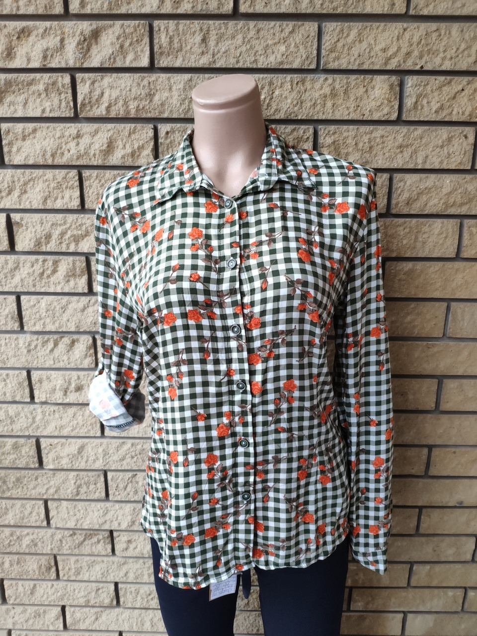 Рубашка женская высокого качества коттоновая дизайнерская TAHA ETEL, Турция