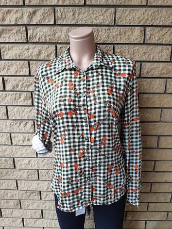 Рубашка женская высокого качества коттоновая дизайнерская TAHA ETEL, Турция, фото 2