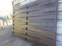 Секция забор деревянный плетенка 2,0х2,0м сухая строганная доска