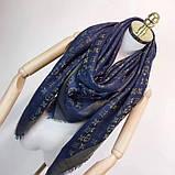 Платок, шаль, палантин Луи Витон с люрексом, качеством ААА, фото 4