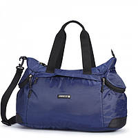 Сумка спортивная синяя багажная дорожная через плечо крепкая полиэстер Dolly 931 Украина 57х35х27см