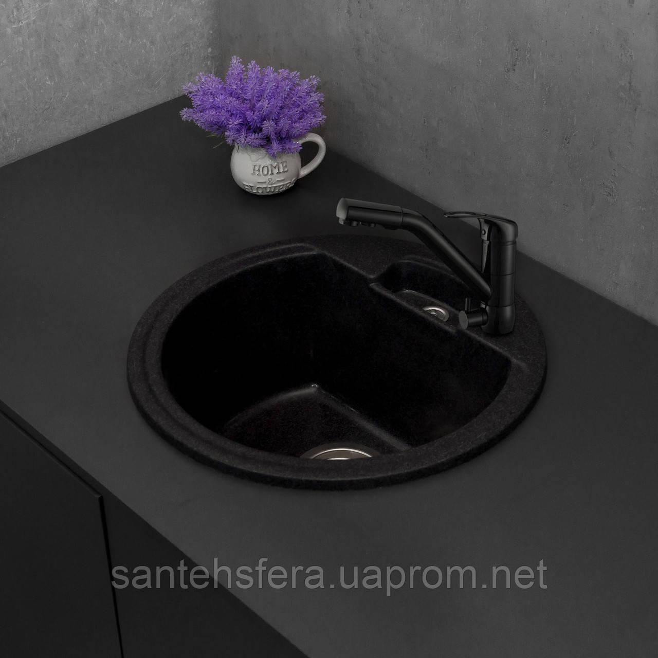 Кухонная мойка Fancy Marble Valencia, 108040004, цвет светло-черный