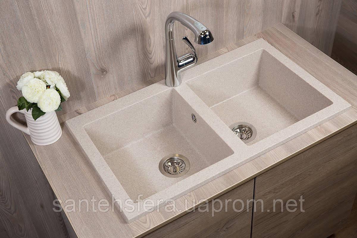 Гранитная кухонная мойка Fancy Marble Westeros, 111080007, цвет песочный