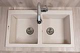 Гранитная кухонная мойка Fancy Marble Westeros, 111080007, цвет песочный, фото 3