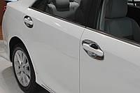 Хром накладки под ручки Toyota Camry 50 2011-2014 (Autoclover C066)
