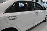 Хром накладки под ручки Toyota Camry 50 2011-2014 (Autoclover C066), фото 6