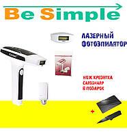 Лазерный фотоэпилятор Kemei KM-6812 для тела и лица со съёмными картриджами