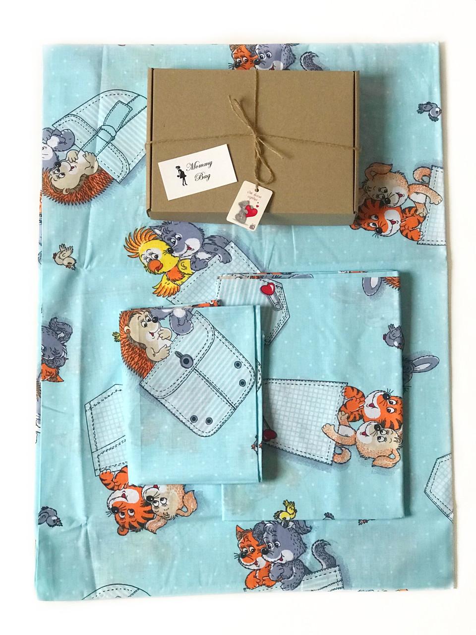 Детское постельное белье в кроватку Зверята №18