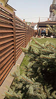 Секция забор деревянный жалюзи 2,0х2,0м сухая строганная доска