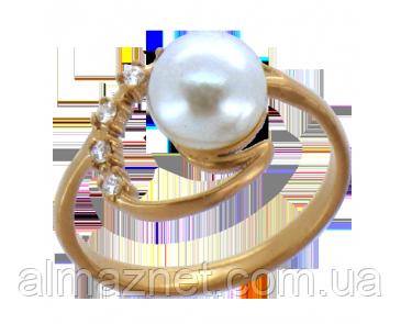 Золотое кольцо с жемчугом Кали