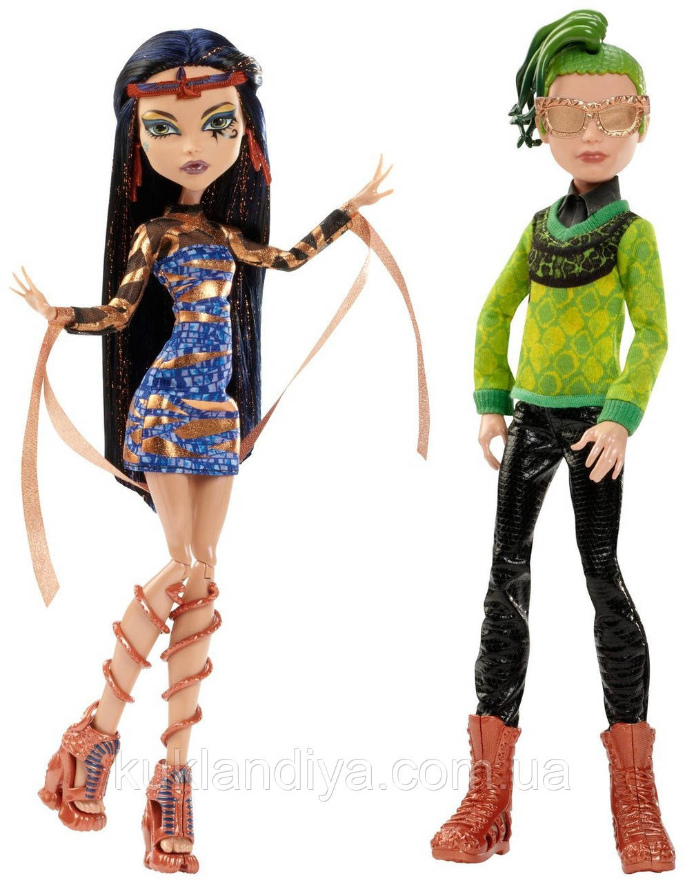 Набор кукол Monster High Дьюс Горгон и Клео Де Нил - Boo York Comet-Crossed Couple Cleo de Nile and Deuce