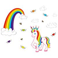 Виниловая Наклейка Glozis Unicorn Разноцветный E-158, КОД: 293215
