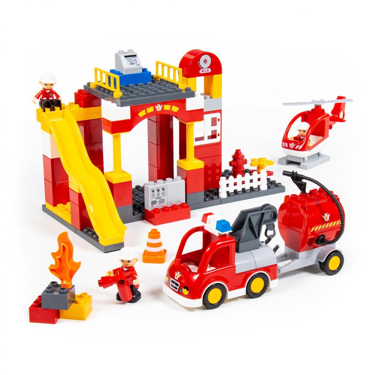 Конструктор Макси Пожарная станция, 81 элемент, «Полесье» (77509)