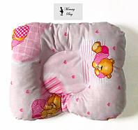 Ортопедическая подушка для новорожденных Розовый мишка #11