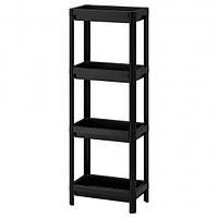 IKEA VESKEN Стеллаж, черный  (304.508.07)ВЕСКЕН Шкаф в ванную 36х23х100 см