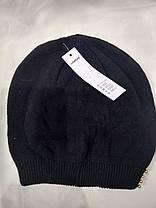 Тонкая шапка Золото 1224 черная, фото 3