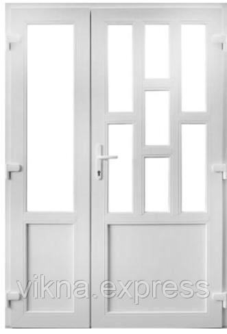 Двух-створчатые Пластиковые входные двери Steko 6000 грн за м кв