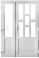 Двух-створчатые Пластиковые входные двери Steko 6000 грн за м кв, фото 1