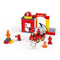Конструктор Макси Пожарная станция, 35 элементов, «Полесье» (77523), фото 1