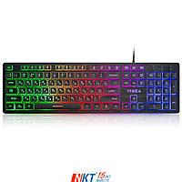 Клавиатура Vinga KB410 black Тип - мультимедийная, проводная, с подсветкой, конструкция - мембранная