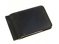 Мужской тонкий кошелек с зажимом GS кожаный коричневый