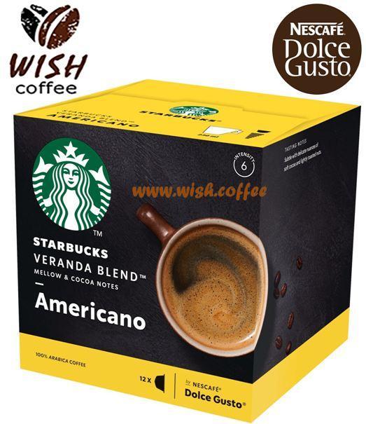 Кава в капсулах Дольче Густо - Dolce Gusto Starbucks Americano Veranda Blend (12 порцій)
