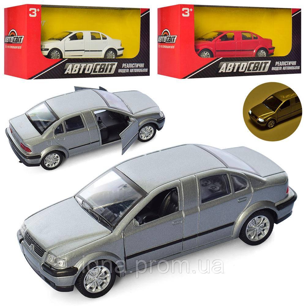 Машина AS-2262 (36шт) АвтоСвіт, металл,инер-й,12см,откр.двери,зв,св,3цв,бат-таб, в кор,19-9-6,5см