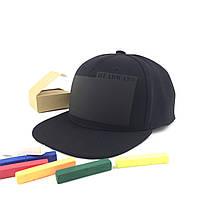 Кепка снепбек черная премиум HEADWAY® snapback BlackBoard (на которой можно рисовать мелом)