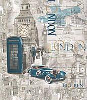 Обои дуплекс на флизелиновой основе Лондон 81 серо-бирюзовый, фото 1